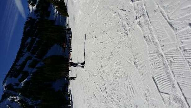 Don't have to wait line to the lift on Presidents Day. It great place to ski but little bit icy and slushy
