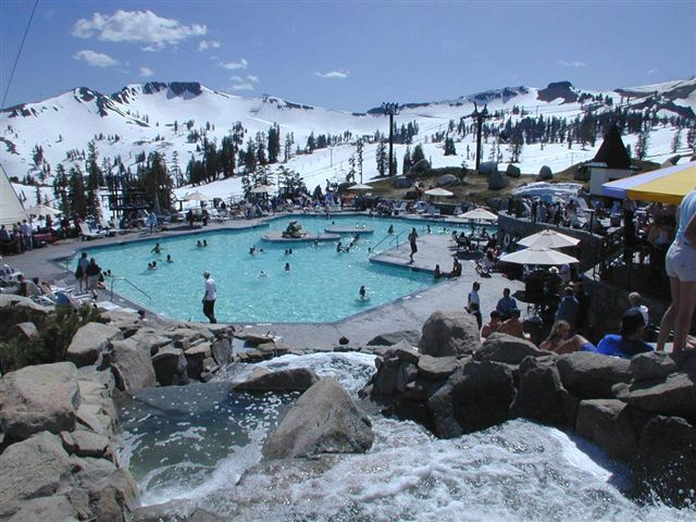 Poolside at Squaw Valley, CA.