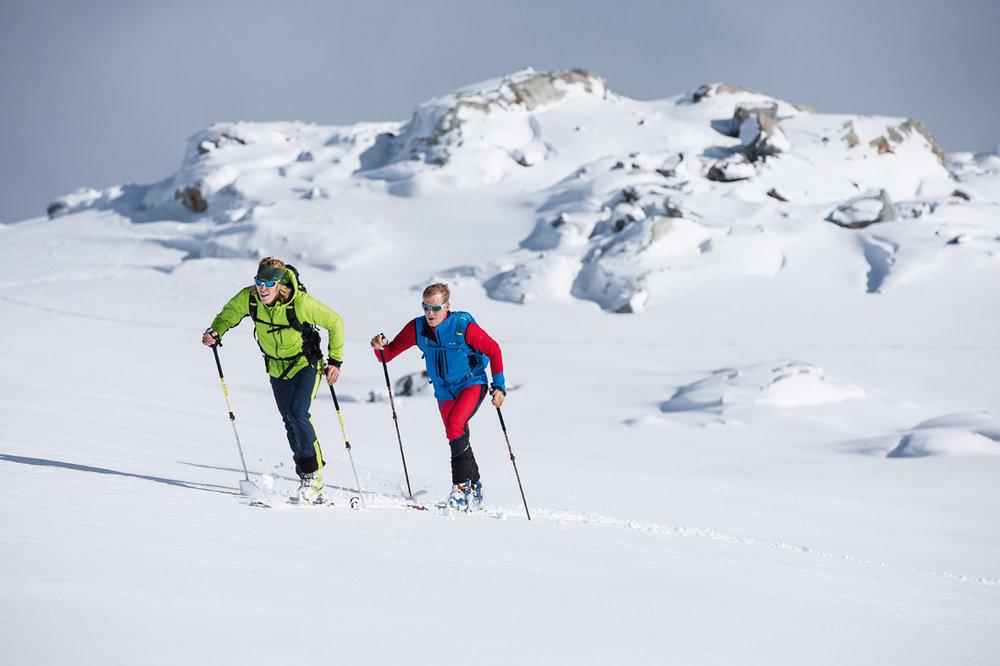 Skibergsteiger aus dem VAUDE-Katalog - ©Lars Schneider / schneider outdoor visions