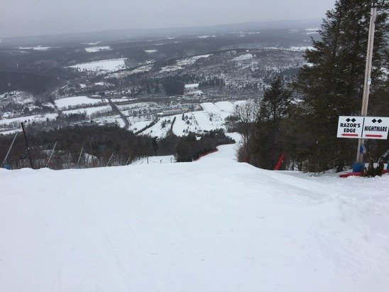 Great day at Blue. Conditions were excellent. No ice.