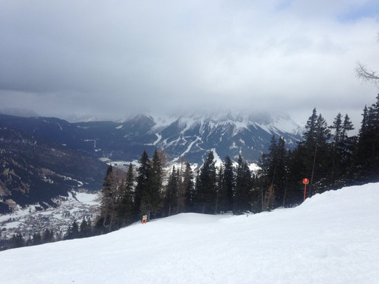 Wide variety of weather today, but great fun on and off the piste.