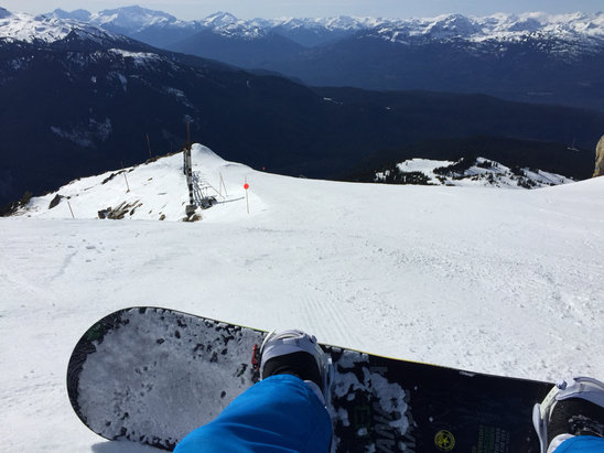 Whistler/Blackcomb - Plenty of snow, everything is groomed really nice. Was able to board from the peak all the way to creekside and to whistler base. It is hardpacked but there is lots of soft snow in places. We had lots of fun yesterday, cant wait to do again tomorrow.