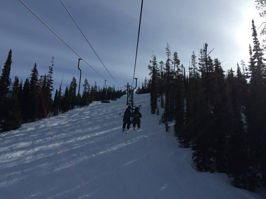 Montana Snowbowl - Nice here!  Sunny! A little crusty but nice spring skiing! - ©Mid Levev