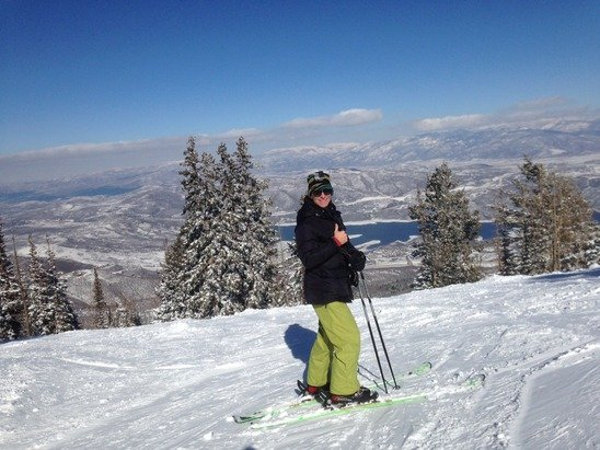 Deer Valley Resort - Perfect bluebird conditions after fresh snow on Tuesday. Gorgeous sun but still a bit chilly. Wish is was still there.