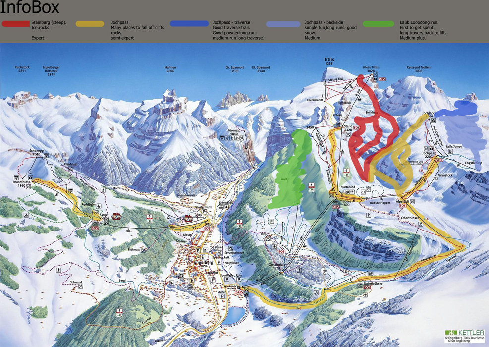 Engelberg off-piste recomended map | none - ©none | Ceebee-nor @ Skiinfo Lounge