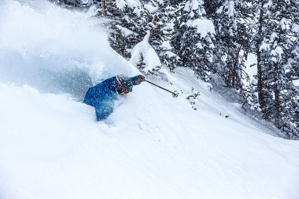 Powder skis did not disappoint on Ski Test day two. - © Liam Doran
