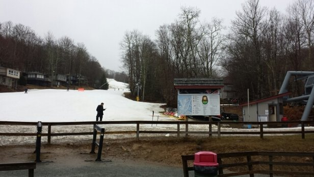 Sugar Mountain Resort - There is snow.  I can say that.