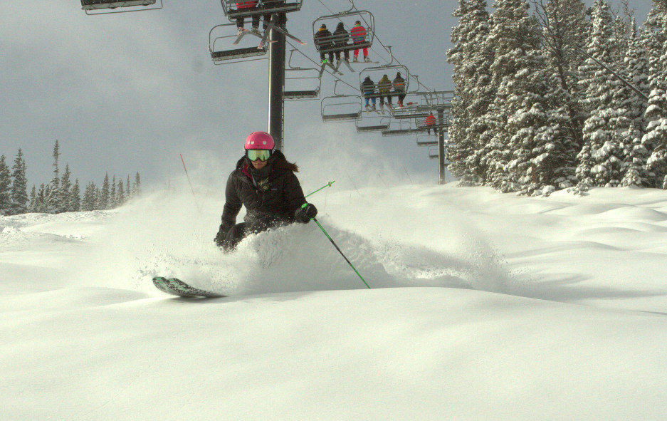 Enjoying the powder at Eldora Mountain Resort in Colorado. - ©Eldora Mountain Resort