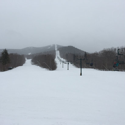 Smugglers' Notch Resort - Jan conditions in April today.  There's no one here and they are missing out.  Powder everywhere. - ©KTs Phone