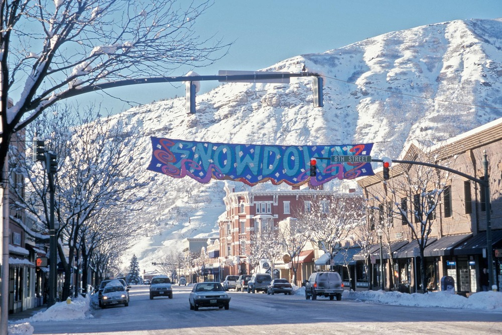 Snowy downtown Durango, CO.