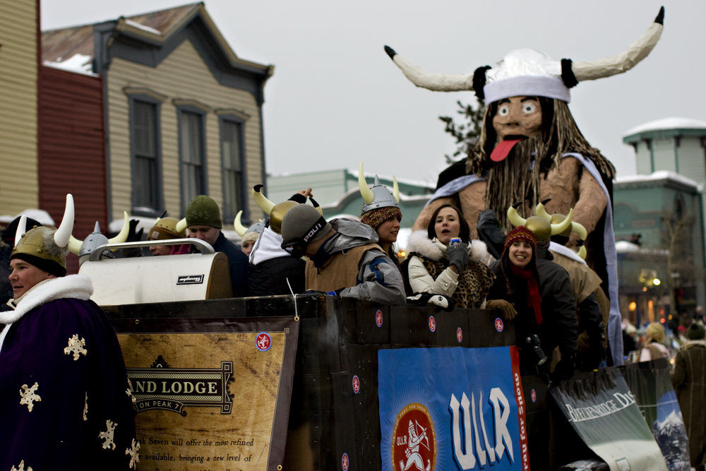 Participants in the Breckenridge Ullr Fest Parade.