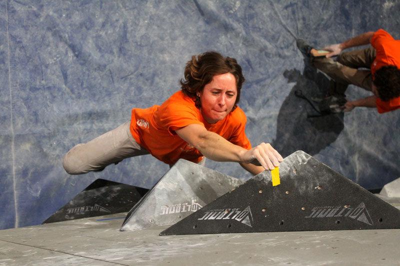 Katrin Lau boulderte sich in das Finale und wurde Fünfte - ©bergleben.de