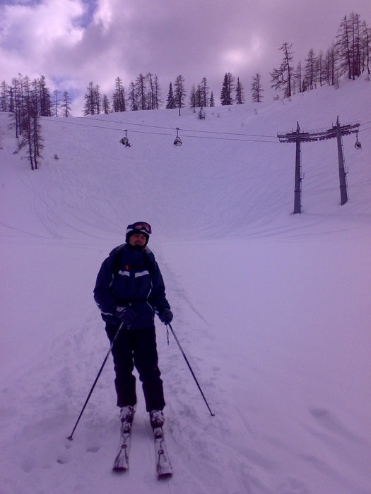 I practiced the freeride on the hill behind me | Martin Lipocky - ©Peterg91 | lipocky @ Skiinfo Lounge
