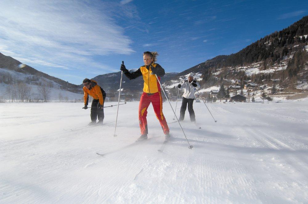 Cross country skiers in Bad Kleinkirchheim