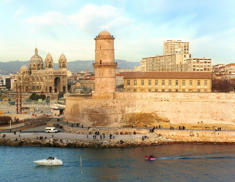 Fort Saint-Jean in the port town of Marseille, France.