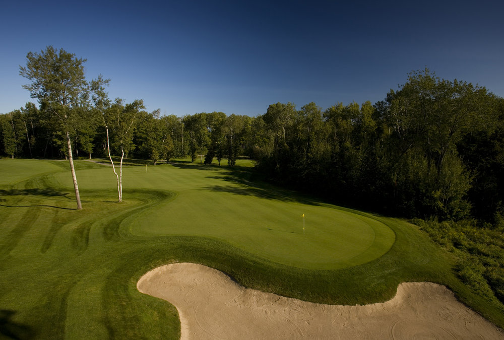 The second hole at Bay Harbor Golf Club, Boyne, Michigan.