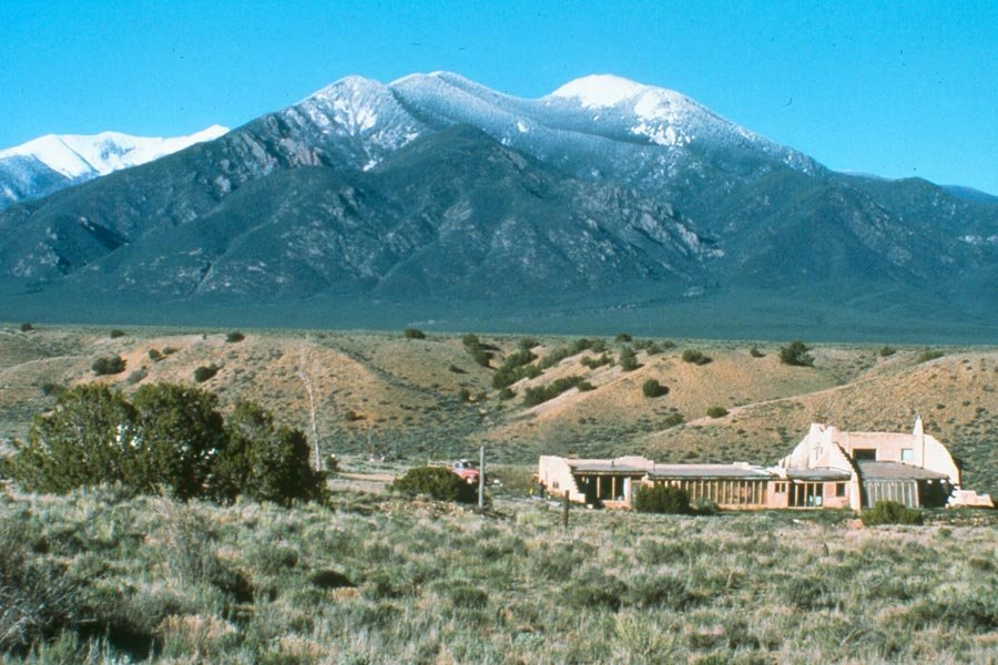 Taos Mountain standing guard over New Mexico. Image by Don Laine.