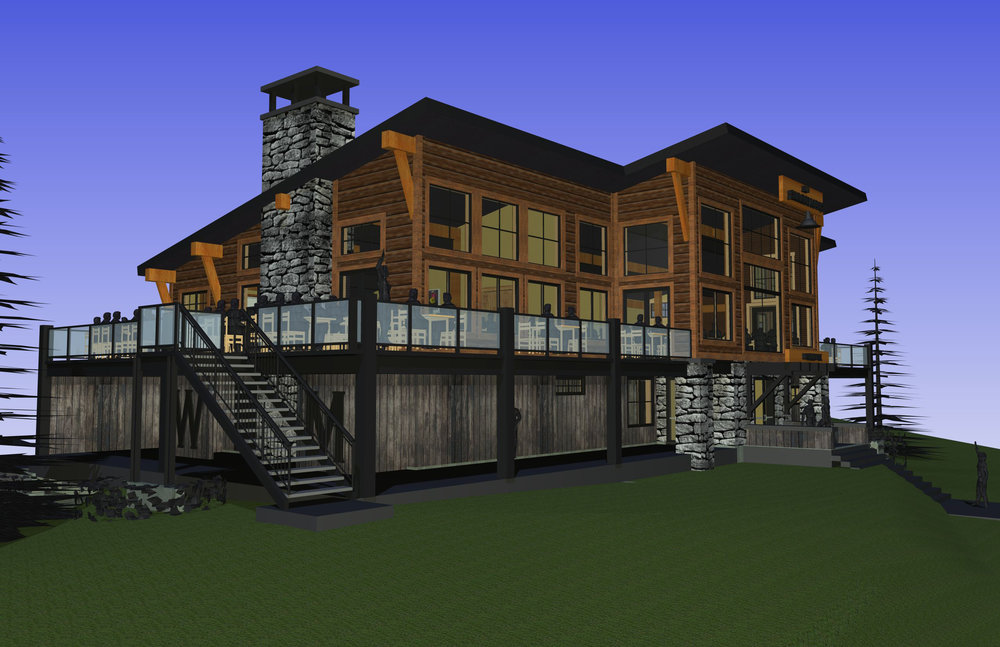 South East view of proposed summit lodge - ©Anticipated Completion in 2016