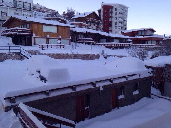 La Parva - La nieve esta muy buena y habren mañana//the snow is really good and they open tomorrow  - ©iPhone de Amélie Schlesi