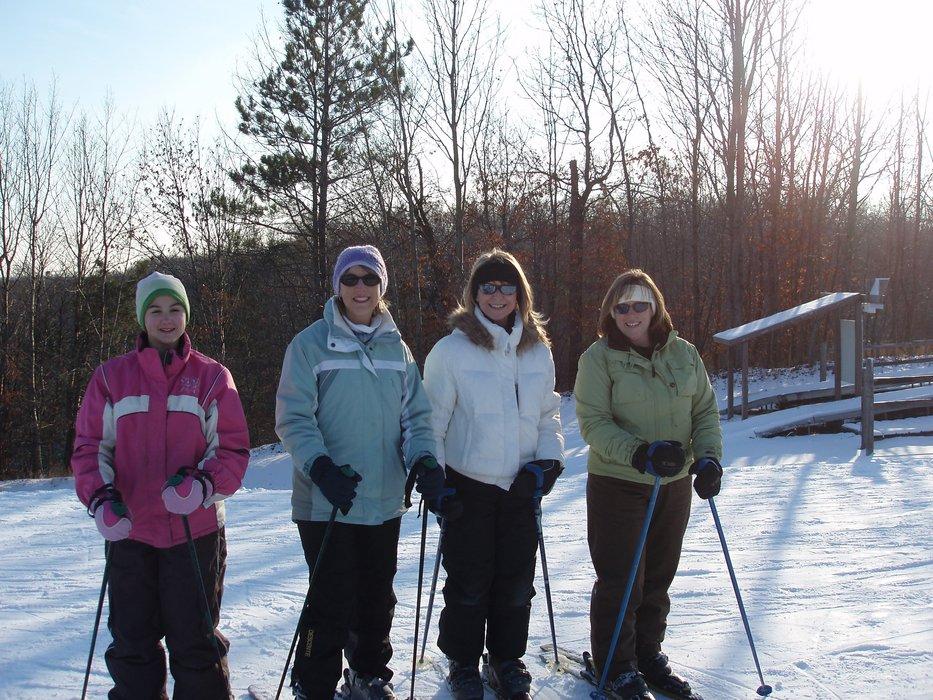 A quartet of ladies skiing at Wild Mountain, MN
