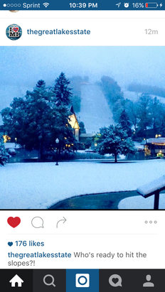 Boyne Mountain Resort - This morning got about 5 inches   - ©robert's iPhone