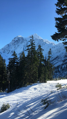 Mt. Baker - Too bad it rained, great first day of the season though. Snow is getting better as it worms up. - ©TG