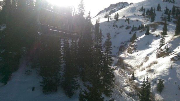 Alta Ski Area - Beautiful sunny day. Also windy.  Snow recently groomed. Yeahh  - ©m4gn3tr0n