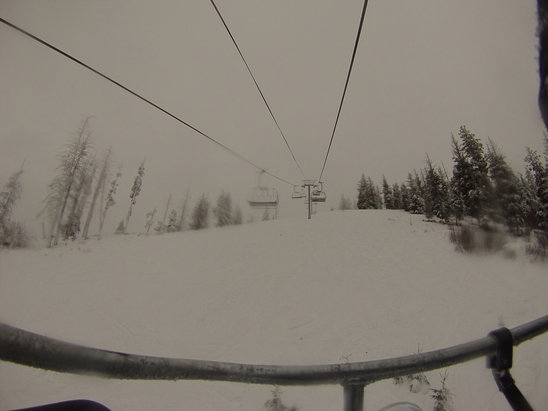 Bogus Basin - great powder but foggy at the top - ©Aly's iPhone