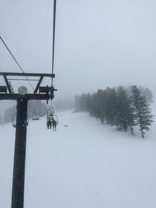 Pebble Creek Ski Area - Great day! Snowing and blowing but awesome.  - ©takemts