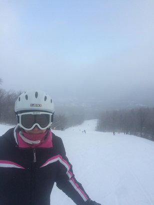 Stratton Mountain - Linda says great day at Stratton ! Come out and enjoy winter!! - ©iPhone