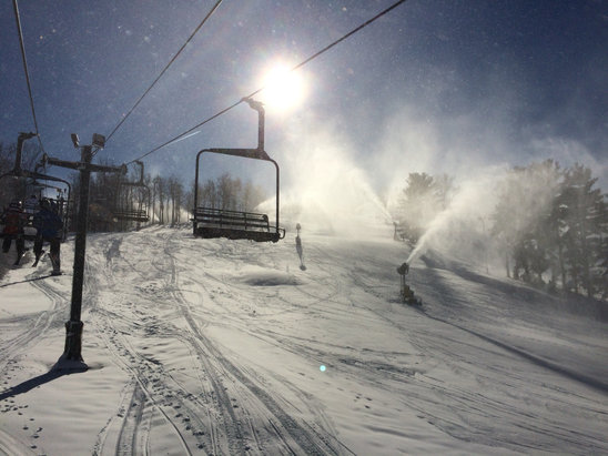 Mad River Mountain - Gorgeous Bluebird Conditions!! - ©Brian Onofrio's iPhone