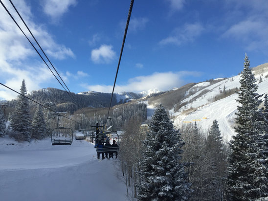 Park City - Beauty day. Snow is crisp. But where are the lifties? It's a mad scramble to get on the lifts.   - ©Eric Findlay's iPhone