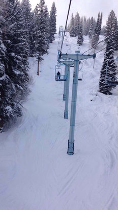 Powderhorn - West end open and in good condition. - ©Daniel Mountfort's iPhon