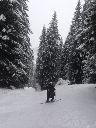 Avoriaz - Wet and raining on the lower slopes and snowing up top. Conditions surprisingly good!  - ©Natalie's iPhone