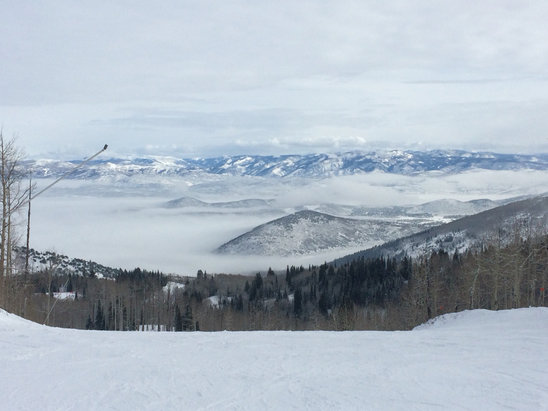 Park City - Had to stop bombing snow dancer for a second to take this picture! Such a great run to fly down with the added bonus of an incredible view! - ©Justin's iPhone