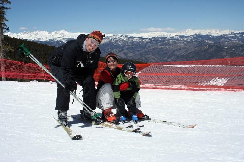 A family at Echo Mountain, CO.