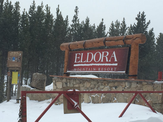 Eldora Mountain Resort - Windswept pretty god. Very icy--edge your skis before heading out! - ©iPhone