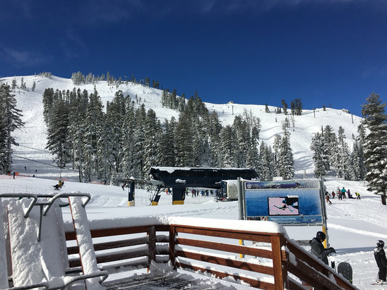 Sugar Bowl Resort - Bluebird on Monday - ©EBean's iPhone