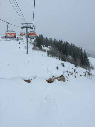 Park City - Best skiing I've seen at PC in years today!  Amazing pow this AM.  No lines on the holiday!  - ©Gavin's iPhone