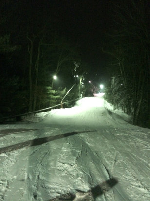 Ski Sundown - Pretty good night skiing tonight, some icy spots but overall a great time! - ©Shelby's iPhone