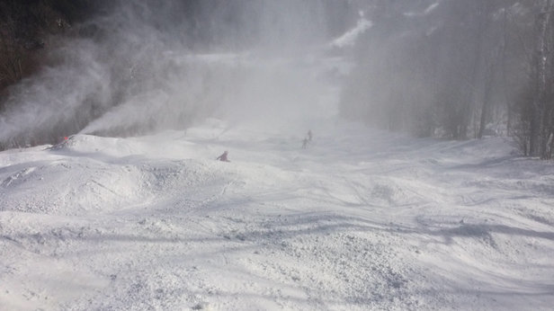 Whiteface Mountain Resort - Another great day.    Wilderness is bumps top to bottom.  Lots of fun.  Too bad they will flatten it out soon.  Should just leave the bumps.   Perfect bump trail.   Such a great mt.   Needs more snowmaking.   Wish the state could sell it to trump.    - ©stefan's iPhone