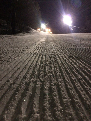 Crotched Mountain - Fresh corduroy for midnight madness 1/23/16  Little icy in a few spots at the top.  - ©Jonathan.Oliver's iPhone