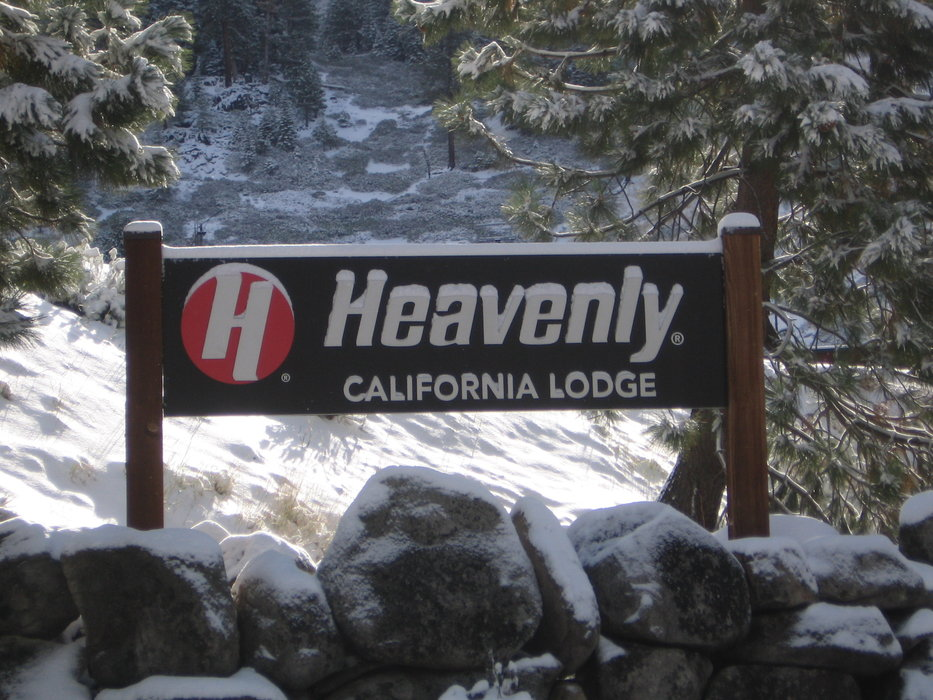 Heavenly sign after first snow, Oct. 4, 2009