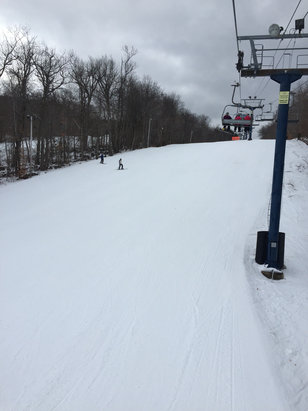 Wachusett Mountain Ski Area - A little icy but good day! - ©DBlues IPhone