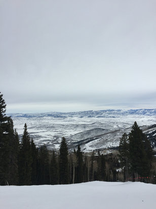 Park City - Coming for Sundance is the BEST time to hit the slopes. It's wide open every single year and I have been coming for 15 years.  Snow is great. Still tons of pow off of 9990. Canyons is way better than pcmr.  - ©Where's the $$ Lebowski