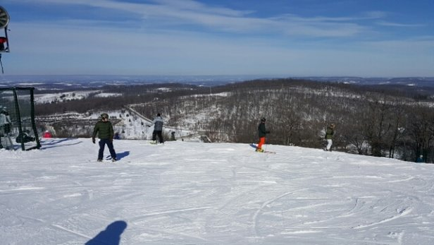 Roundtop Mountain Resort - lots of people out, great conditions Saturday  - ©cjohnson32218