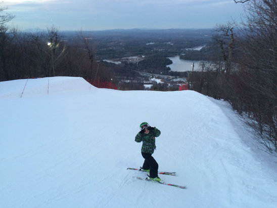 Wachusett Mountain Ski Area - Great job snowmaking & grooming!! Excellent considering the way this winter is going! - ©DWB-iPhone