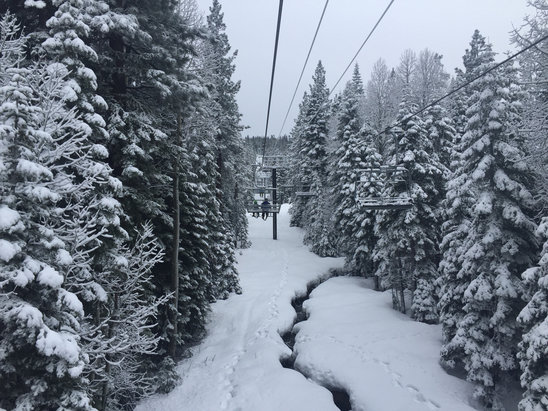 Northstar California - Awesome day-  we got first tracks on Martis! One of the best runs of my life.  It was night and day from yesterday!   - ©MCAT