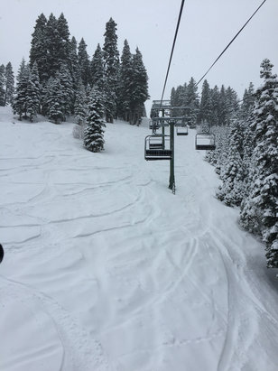 Homewood Mountain Resort - Epic.  Knee deep just about everywhere.  No lines and found plenty of freshies all day.  - ©John Eschelbach's iPhone