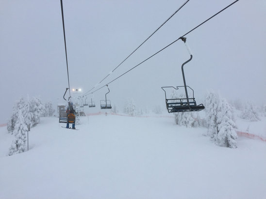 Cypress Mountain - Lots of nice soft snow, a lot has already been packed out. Biggest hazard is bad riders, still a fun too if you get ho early enough.   - ©Jrock